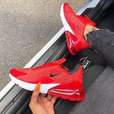 Air 270 Red/Black - Sneakers Nike - Ideas of Sneakers Nike - Air 270 Red/Black . Nike Free Run, Nike Free Shoes, Cute Nike Shoes, Cute Sneakers, Sneakers Nike, Yeezy Sneakers, Red Adidas Shoes, Kicks Shoes, Green Sneakers