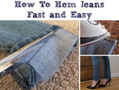 How To Hem Jeans Fast and Easy