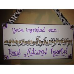 Sample of thumbprint art. This was made on canvas. Paint pen for lettering, ribbon on outer edge, and different ribbon to hang from. Teacher Gifts From Class, Teacher Retirement Gifts, Teacher Birthday, Retirement Ideas, Retirement Parties, Volunteer Gifts, School Auction, School Gifts, School Treats
