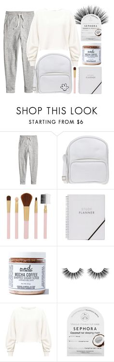 """""""Brighten up your day"""" by ali-sxn ❤ liked on Polyvore featuring H&M, Jil Sander Navy, Forever 21, Mod Bath and Body, Velour Lashes, Miss Selfridge, Sephora Collection, cute, white and tumblr"""