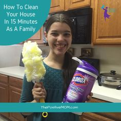 Want to learn how to clean your house in 15 minutes as a family? Check out this step by step tutorial and get relief today! Cleaning Fun, Disinfecting Wipes, Office Bathroom, Inviting Home, Home Ownership, Organization Hacks, Helpful Tips, Awesome Stuff, Latina