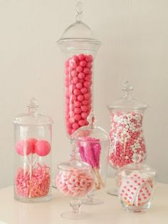 Make your own take home candy bag candy bar  in pink! Perfect for baby girl shower. Must add marshmallows dipped in pink icing, pink cotton candy, pink caramel kisses, pink lolli pops, pink jelly beans...