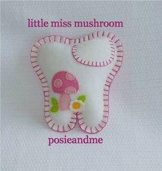 Pink Sugar Owl Wool Felt Toothfairie Pillow by posieandme on Etsy