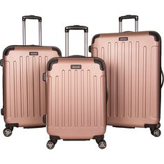 New Kenneth Cole Reaction Renegade Lightweight Hardside Expandable Spinner Luggage Set: 20 Carry-On, 24 , 28 Suitcases, Rose Gold online - Topnicefashion Suitcase Set, Carry On Suitcase, Carry On Luggage, Travel Luggage, Travel Bags, Hard Suitcase, Travel Items, Juicy Couture, Rose Gold Luggage