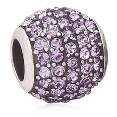 Everbling Violet Pave Lights With Violet Austrian Crystal Authentic 925 Sterling Silver Bead Fits Pandora Chamilia Biagi Troll Charms Europen Style Bracelets  Price : $22.99 http://www.everblingjewelry.com/Everbling-Austrian-Authentic-Sterling-Bracelets/dp/B00B0SU1ZU