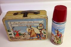 Roy Rogers and Dale Evans lunchbox and thermos 1953