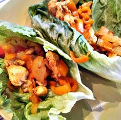 Paleo Chicken Fajitas, fast and easy paleo lunch or dinner idea. I added paprika and cumin as well for some flavor.