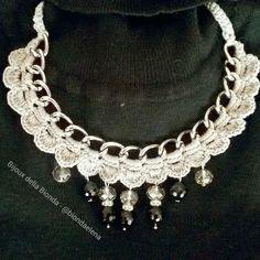 Collana catena grigio perla - bijoux della Bionda