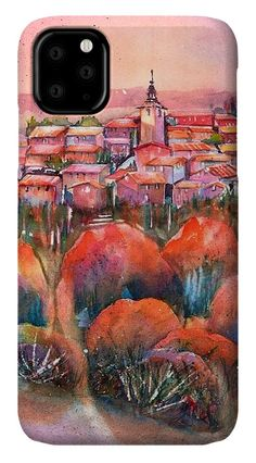 Sunrise Roussillon IPhone Case featuring the painting Sunrise over Roussillon Provence France by Sabina Von Arx Watercolor Paintings, Original Paintings, Creative Colour, Provence France, Basic Colors, Painting Techniques, Color Show, Colorful Backgrounds, Fine Art America