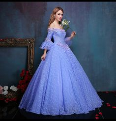 dresses formal gowns on sale at reasonable prices, buy flower embroidery beading light purple lace ball gown medieval dress princess Renaissance Gown queen Victoria/Belle from mobile site on Aliexpress Now! Renaissance Gown, Medieval Dress, Pretty Outfits, Pretty Dresses, Evening Dresses, Prom Dresses, Wedding Dresses, Lace Ball Gowns, Vintage Ball Gowns