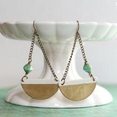 Half-Moon Clay DIY Earrings