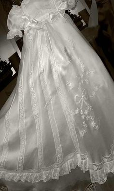 By far the most elegant christening gowns on the list, this handmade gown by Angela West is more than breathtaking. Description from pinterest.com. I searched for this on bing.com/images