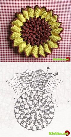 Crochet Patterns Dishcloth I just love sunflowers This Pin was discovered by Lil Image gallery – Page 551198441892596916 – Artofit Crochet Diagram, Crochet Chart, Thread Crochet, Crochet Motif, Irish Crochet, Crochet Doilies, Crochet Stitches, Appliques Au Crochet, Crochet Flower Patterns
