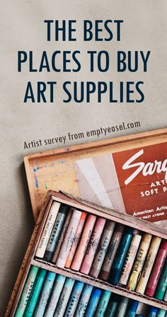 """Ever get asked, """"Where's the best place to find art supplies?"""" Or, """"Where do you buy art materials? Or from an actual store?"""" Well I asked again - and here are the stores that artists are recommending. Artist And Craftsman Supply, Art Supplies Storage, Artist Pencils, Cheap Art, Artist Supplies, Art Supply Stores, Selling Art, Art Techniques, Art Tutorials"""