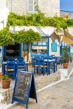 Tavern on the island of Hydra (Saronic Gulf), Greece - by Adam Sabic