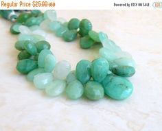 47% Off Outstanding Multi Chrysoprase Gemstone Faceted Briolette 15.5 to 16.5mm 5 beads Focal by somsstudiosupplies on Etsy