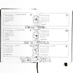 Bullet journal future log, flower drawings, floral background, minimalist month header. @thestudiesphase