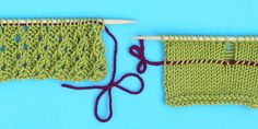 How to add a lifeline to knitting