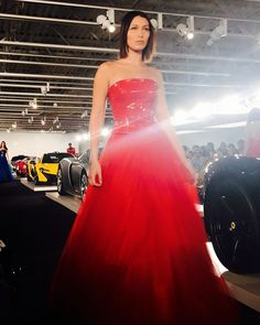 Full speed ahead at @ralphlauren's garage. @bellahadid test drives a red-hot evening number at the show in Bedford New York. #RLFall2017 #nyfw  via V MAGAZINE OFFICIAL INSTAGRAM - Celebrity  Fashion  Haute Couture  Advertising  Culture  Beauty  Editorial Photography  Magazine Covers  Supermodels  Runway Models