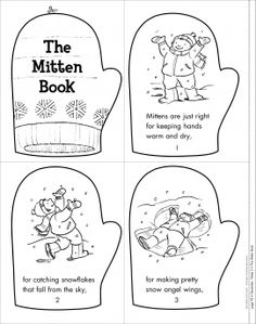 The Mitten Book  Mini-Book of the Week from Scholastic  FREE    Mitten Crafts For Preschoolers