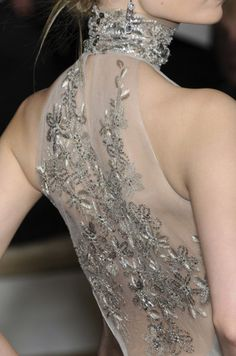 sheer back with sparkles, gorgeous