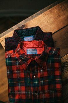 Dad liked his plaid Pendleton shirts. Pendleton Shirts, Mein Style, Well Dressed, Winter Fashion, Menswear, Mens Fashion, Plaid Fashion, Style Inspiration, Gingham