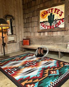 Native American Decor, Native American Patterns, Native American Fashion, Southwestern Area Rugs, Southwest Decor, Rustic Cross, Western Homes, My New Room, Aztec Rug