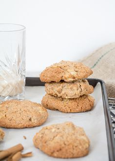 Easy Cake : Apple-oatmeal cakes - Laura & # s Bakery, Oatmeal Cake, Apple Oatmeal, Cookie Desserts, Cookie Recipes, Blueberry Recipes, Happy Foods, Gluten Free Cakes, Healthy Baking, Healthy Food