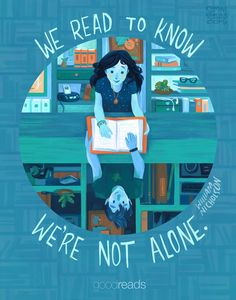 We read to know we're not alone. #lit #book #reading