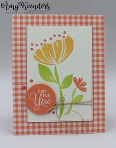 Stampin' Up! Bloom By Bloom for the Happy Inkin' Thursday Blog Hop – Stamp With Amy K You Are Wonderful, Birthday Cards For Women, Some Cards, Card Sketches, Stamping Up, Flower Cards, Diy Cards, Card Making, Bloom