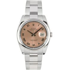 03af7e9cafd Pre-Owned Rolex Men s Datejust Stainless Steel Oyster Salmon Dial Watch  Rolex Watches For Men