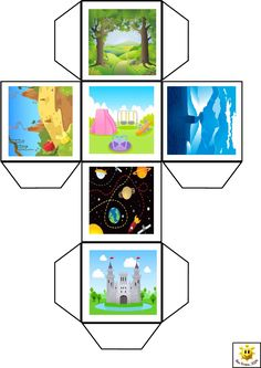 Story cube. Read, illustrate and write sentences for each to retell in own words.