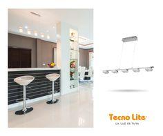 La luz cálida de nuestro modelo LAGOS es ideal para cocinas.