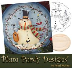 Free Snowman Design from Renee Mullins Christmas Deco, Christmas Design, Christmas Snowman, Christmas Projects, Holiday Crafts, Fun Crafts, Christmas Ornaments, Painting Templates, Painting Patterns