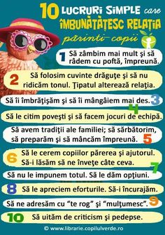 Relația părinți-copii Parenting Advice, Kids And Parenting, Kindergarten Crafts, 100 Days Of School, Baby Needs, Emotional Intelligence, Kids Education, Toddler Activities, My Children