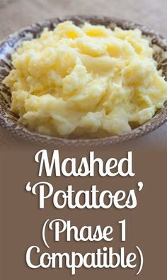 Mashed 'Potatoes' (Phase 1 Compatible) - Nutrition World