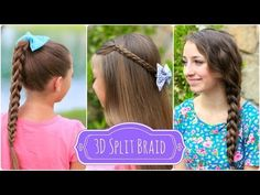 3D Split Braid | Three Different Looks - YouTube