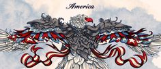It´s a Budweiser´s signature series in partnership with Rafael Grampá. Rafael invited me to paint and finalize four of his Drawnings. The four pieces is about American spirit of patriotism and one of the images was painted in a mural in New York City (W…