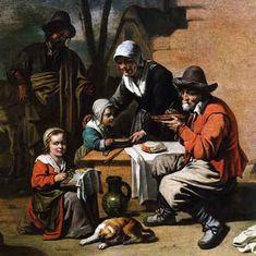 Le repas villageois de Antoine LE NAIN (français 1588 - 1648)