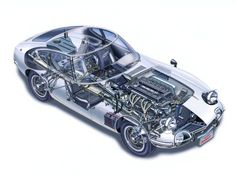1967 Toyota 2000GT JP-spec MF10 supercar supercars classic interior engine engines wallpaper background