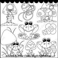 Toadally Frogs 1 B/W Clipart: http://digiscrapkits.com/digiscraps/index.php?main_page=product_info&cPath=892&products_id=8296 #TrinaClark #DigiScrapKIts