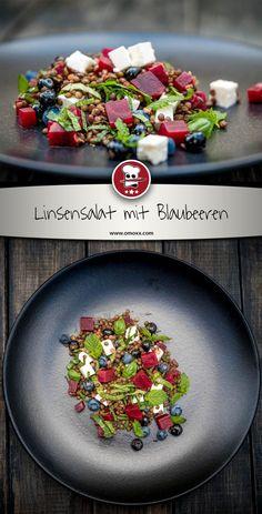 Linsensalat mit Blaubeeren und Roter Beete