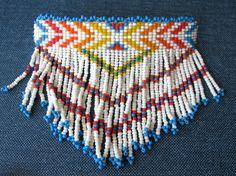 Navajo beaded 1980s barrette, hair, pin, holder, summer. $14.00, via Etsy.