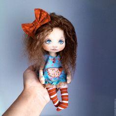 Коллекционные куклы ручной работы. Ярмарка Мастеров - ручная работа. Купить Брусничка. Handmade. Ярко-красный, кукла в подарок, хлопок