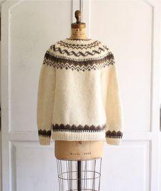 Oversized Scandinavian fair isle sweater via bohemiennes