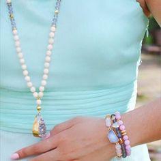 Instagram : @lovesaffect #lovesaffect #lovesaffectjewelry #jewelry #spring #summer #style #color #jewels #mint #pretty #pastel #bracelet #bracelets #stack #braceletstack #necklace #etsy #handmade