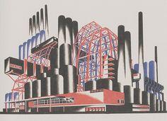 Iakov Chernikhov, Fantastic compositions, 1929-1931, composition 73