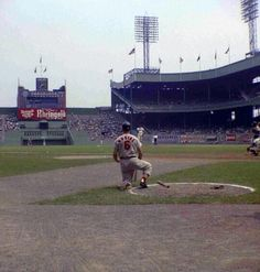 """""""Stan The Man Musial waiting for his turn to swing the stick against the Mets at the Polo Grounds in St Louis Baseball, Baseball Park, Baseball Photos, Baseball Players, Baseball Field, Baseball League, Sports Photos, Football, Cardinals Players"""