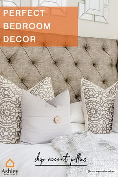There can never be too many #accentpillows on your bed! Shop our wide variety of pillows to match whatever style you're into. Down Pillows, Throw Pillows, Pillos, Bed Rooms, Accent Pillows, Mattress, Bedroom Ideas, Sewing Projects, Feather