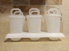 Vintage Tupperware Clear/ Sheer Popsicle Maker/ by RedRaspberryyy
